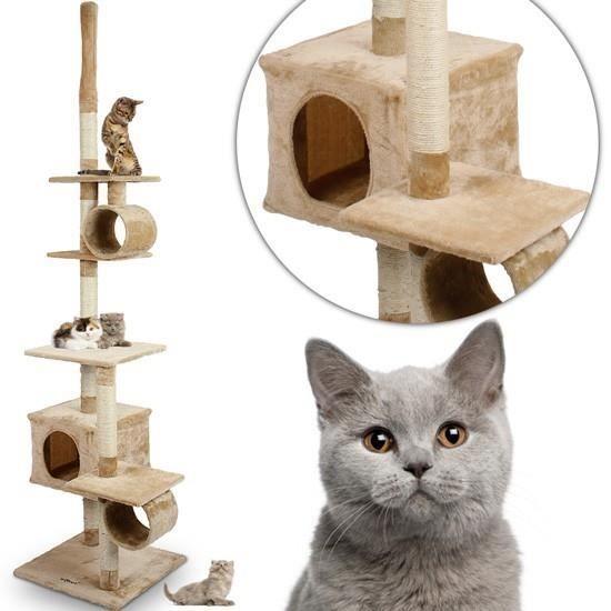 arbre chat beige jusqu 39 2 30 m de haut achat vente. Black Bedroom Furniture Sets. Home Design Ideas