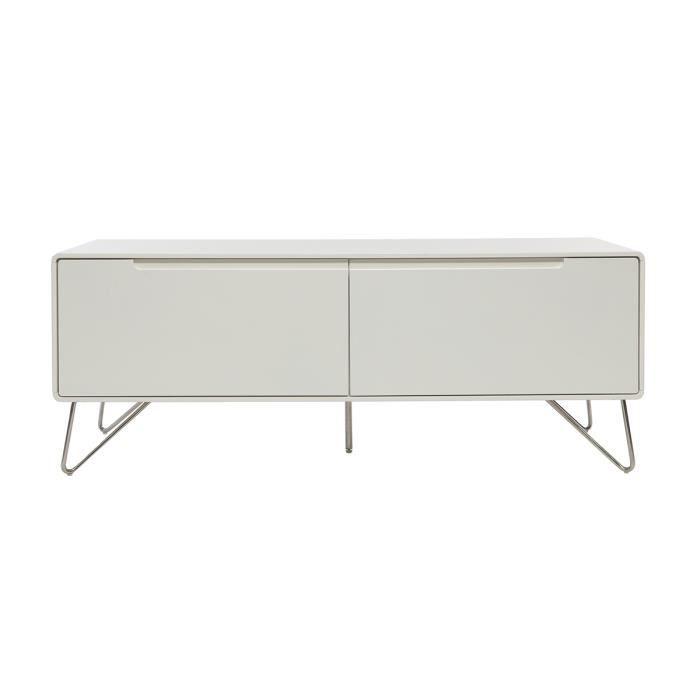 meuble tv design 120cm blanc mat illia achat vente meuble tv illia meuble tv 120cm soldes. Black Bedroom Furniture Sets. Home Design Ideas
