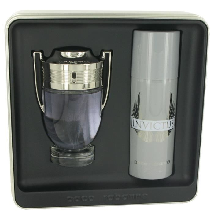 coffret noel invictus 100ml edt paco rabanne achat. Black Bedroom Furniture Sets. Home Design Ideas