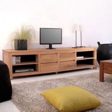 Meuble tv en teck 200 patio achat vente meuble tv for Meuble patio