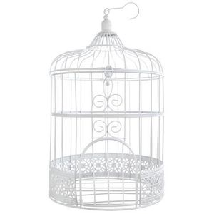 urne dcorative tirelire mariage urne cage oiseau blanche - Urne Mariage Cage
