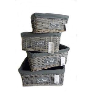panier en osier gris achat vente panier en osier gris. Black Bedroom Furniture Sets. Home Design Ideas