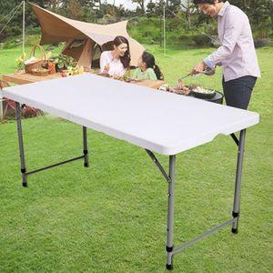 Table plastique pliante pour jardin achat vente table for Table exterieur 300