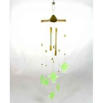 carillon vent en m tal avec 6 anges phosphore achat. Black Bedroom Furniture Sets. Home Design Ideas