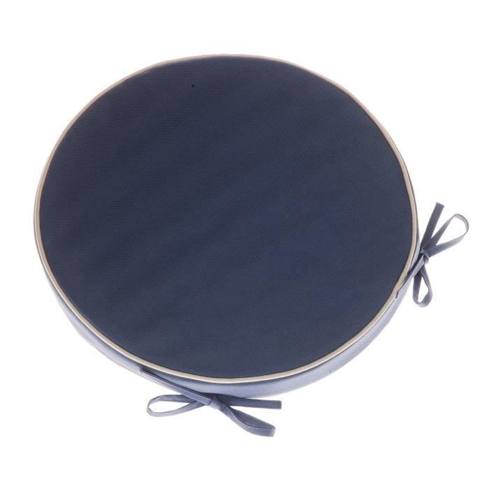 galette de chaise mousse ronde 38x4 cm bleu achat vente coussin de chaise cdiscount. Black Bedroom Furniture Sets. Home Design Ideas