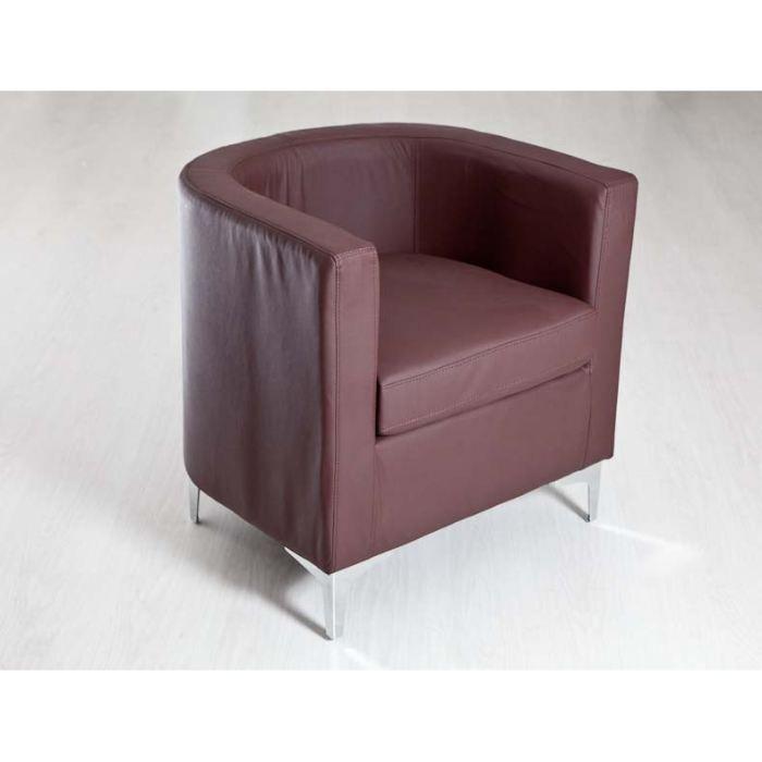 Fauteuil cabriolet marron achat vente fauteuil mati re de la structure - Fauteuil cabriolet pouf ...