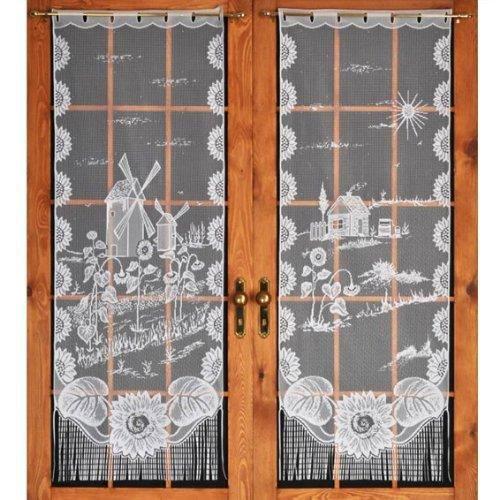 paire maille vitrage droit 2 x 60 x 120 cm des achat vente rideau soldes d t cdiscount. Black Bedroom Furniture Sets. Home Design Ideas
