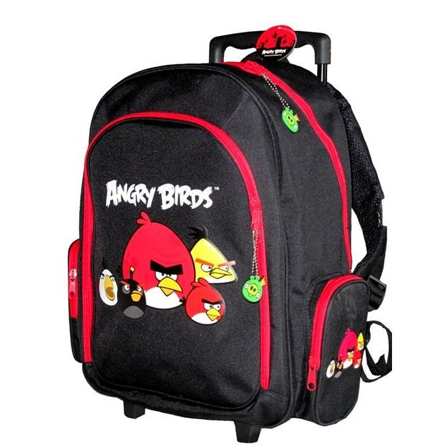 Angry birds trolley noir rouge achat vente cartable angry birds trolley cdiscount - Angry birds rouge ...