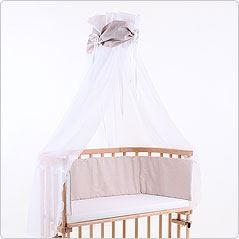 ciel de lit brun pour lit berceau cododo babybay achat vente ciel de lit b b 4260095221841. Black Bedroom Furniture Sets. Home Design Ideas