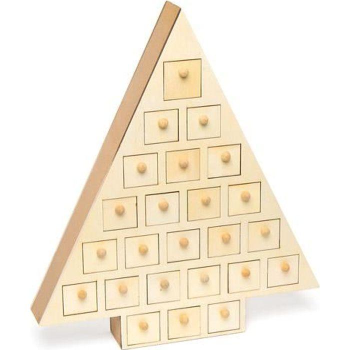 sapin calendrier de l 39 avent en bois que les enfants. Black Bedroom Furniture Sets. Home Design Ideas