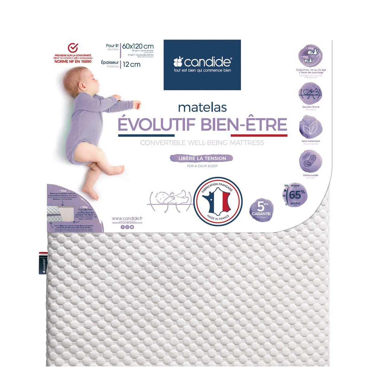 Matelas volutif bien tre pour lit 60x120x12cm achat vente matelas b b - Matelas evolutif enfant ...