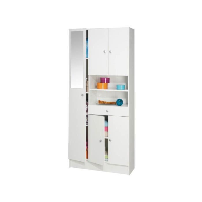 Meuble de salle de bain colonne imbattable 5 portes 1 tiroir achat - C discount meuble salle de bain ...