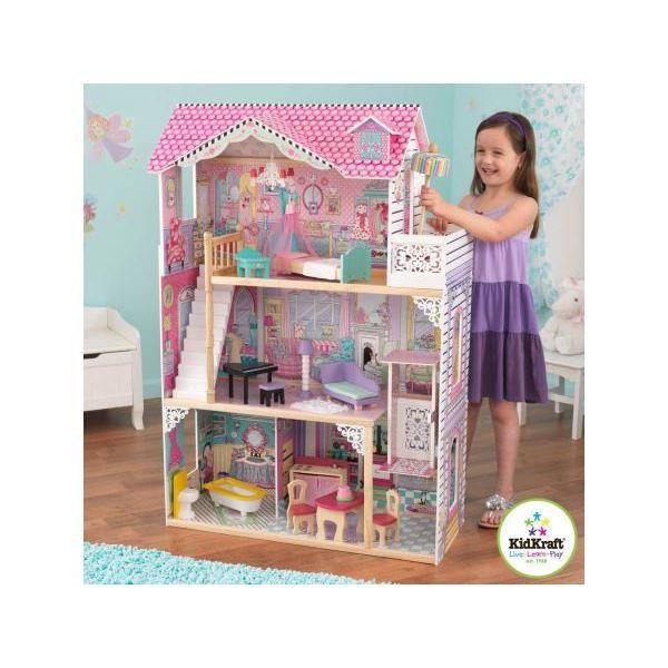 kidkraft 65079 maison de poup e annabelle achat. Black Bedroom Furniture Sets. Home Design Ideas