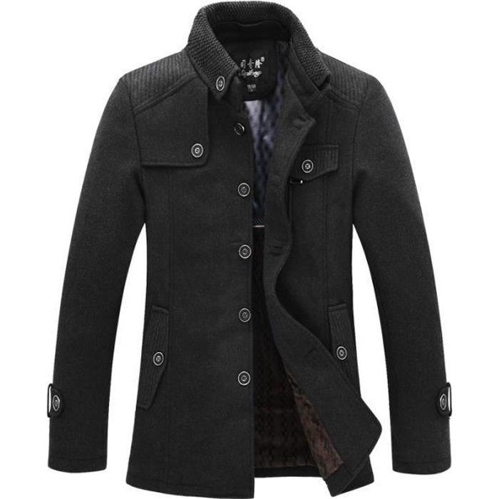 manteau homme laine achat vente manteau homme laine. Black Bedroom Furniture Sets. Home Design Ideas