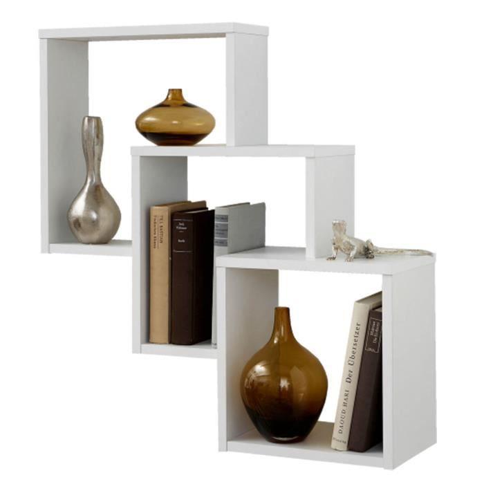 etagere murale avec 3 compartiments achat vente etagere murale avec 3 compartiments pas cher. Black Bedroom Furniture Sets. Home Design Ideas