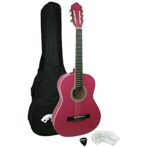 tiger guitare classique 1 2 avec accessoires rose jasmin pas cher achat vente guitare. Black Bedroom Furniture Sets. Home Design Ideas
