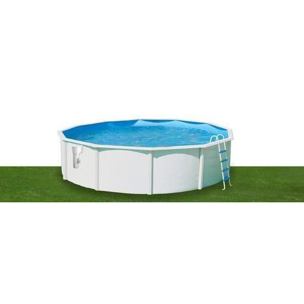 Luna piscine en acier circulaire 460x120 achat vente for Piscine acier octogonale