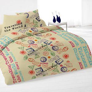 drap housse deux personnes achat vente drap housse deux personnes pas cher cdiscount. Black Bedroom Furniture Sets. Home Design Ideas