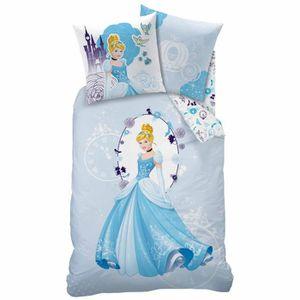 Parure de lit cendrillon achat vente parure de lit cendrillon pas cher cdiscount - Housse de couette princesse 140x200 ...