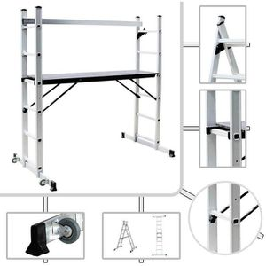 ECHAFAUDAGE Échafaudage aluminium avec plateforme 147 x 40.5cm
