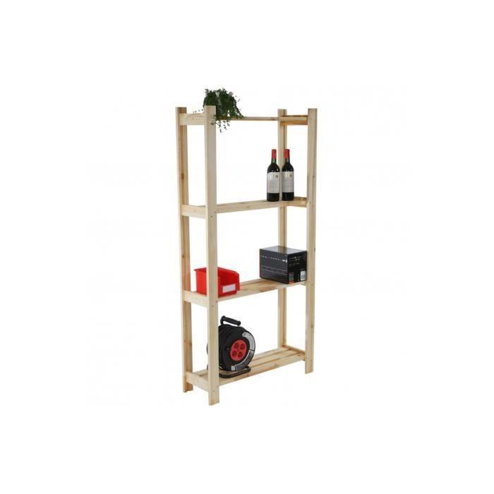 Tag re en bois emmen 4 etage achat vente petit meuble for Etage en bois