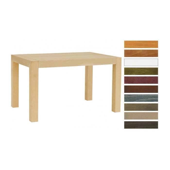 Table rectangulaire h tre naturel 1 allonge l130 achat - Table allonge bebe ...