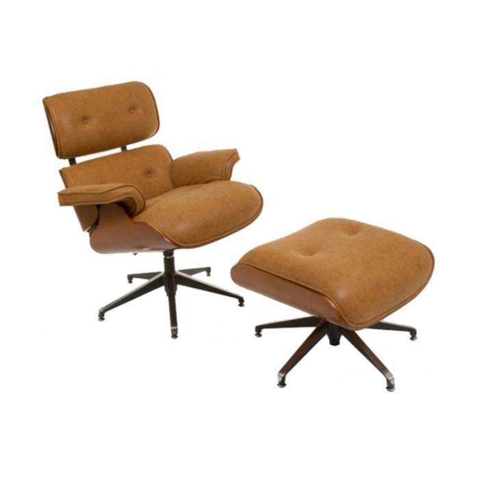 fauteuil avec repose pieds en cuir achat vente fauteuil avec repose pieds en cuir pas cher. Black Bedroom Furniture Sets. Home Design Ideas