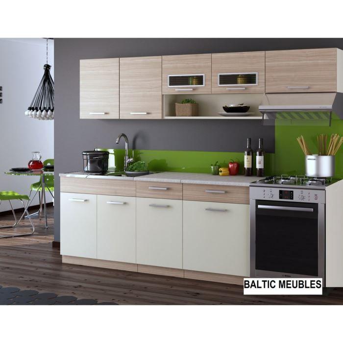 Cuisine topaze rable 7 meubles 2m40 achat vente cuisine compl te cuis - Cdiscount cuisine complete ...