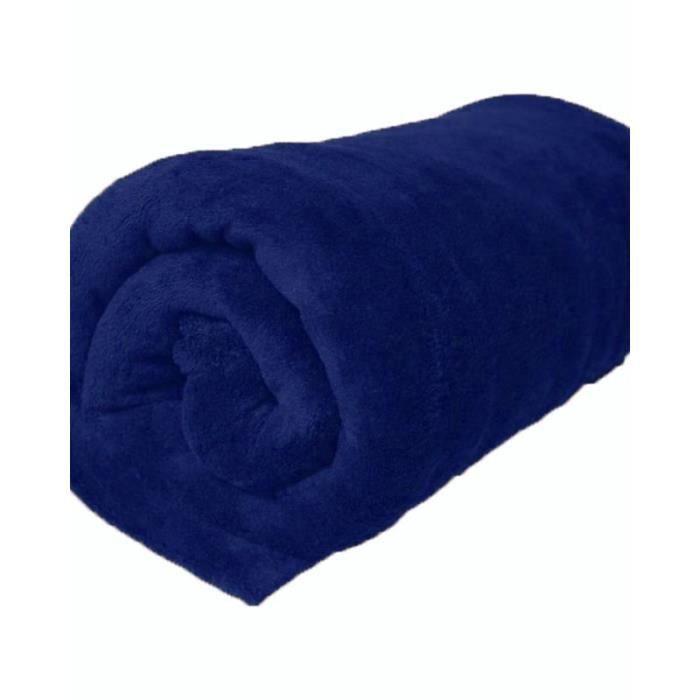 240x220 cm couverture polaire en fausse fourrure bleue bleu achat vente couverture plaid. Black Bedroom Furniture Sets. Home Design Ideas
