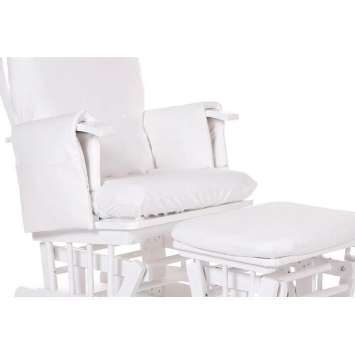 Housse blanche pour fauteuil d allaitement achat vente for Housse coussin fauteuil