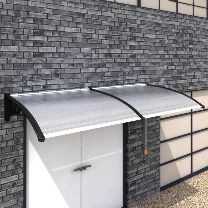 Auvent de porte 240 x 100 cm toit de porte pour prot ger l 39 entr e de mais - Auvent marquise de porte ...