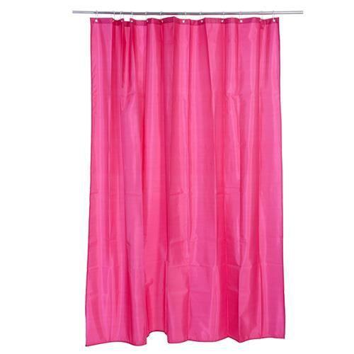 rideau de douche polyester framboise achat vente rideau de douche cdiscount. Black Bedroom Furniture Sets. Home Design Ideas