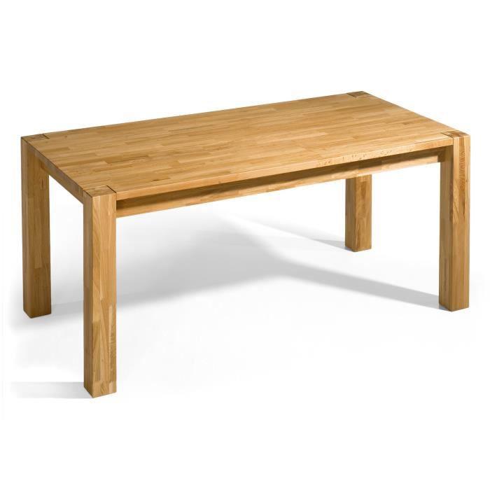 Table wildeiche ii 160x90 avec rallonges en ch ne huil for Table chene avec rallonge