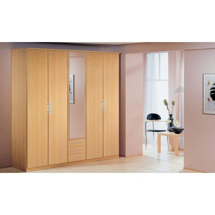 armoire 5 portes 3 tiroirs laura ii achat vente armoire de chambre armoire 5 portes 3. Black Bedroom Furniture Sets. Home Design Ideas