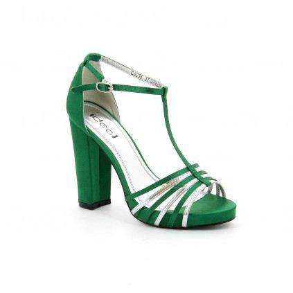 Chaussures à bout ouvert vertes femme WMm89