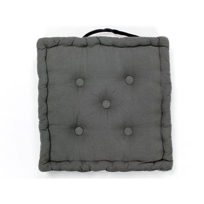 coussin de sol connexion gris achat vente coussin. Black Bedroom Furniture Sets. Home Design Ideas