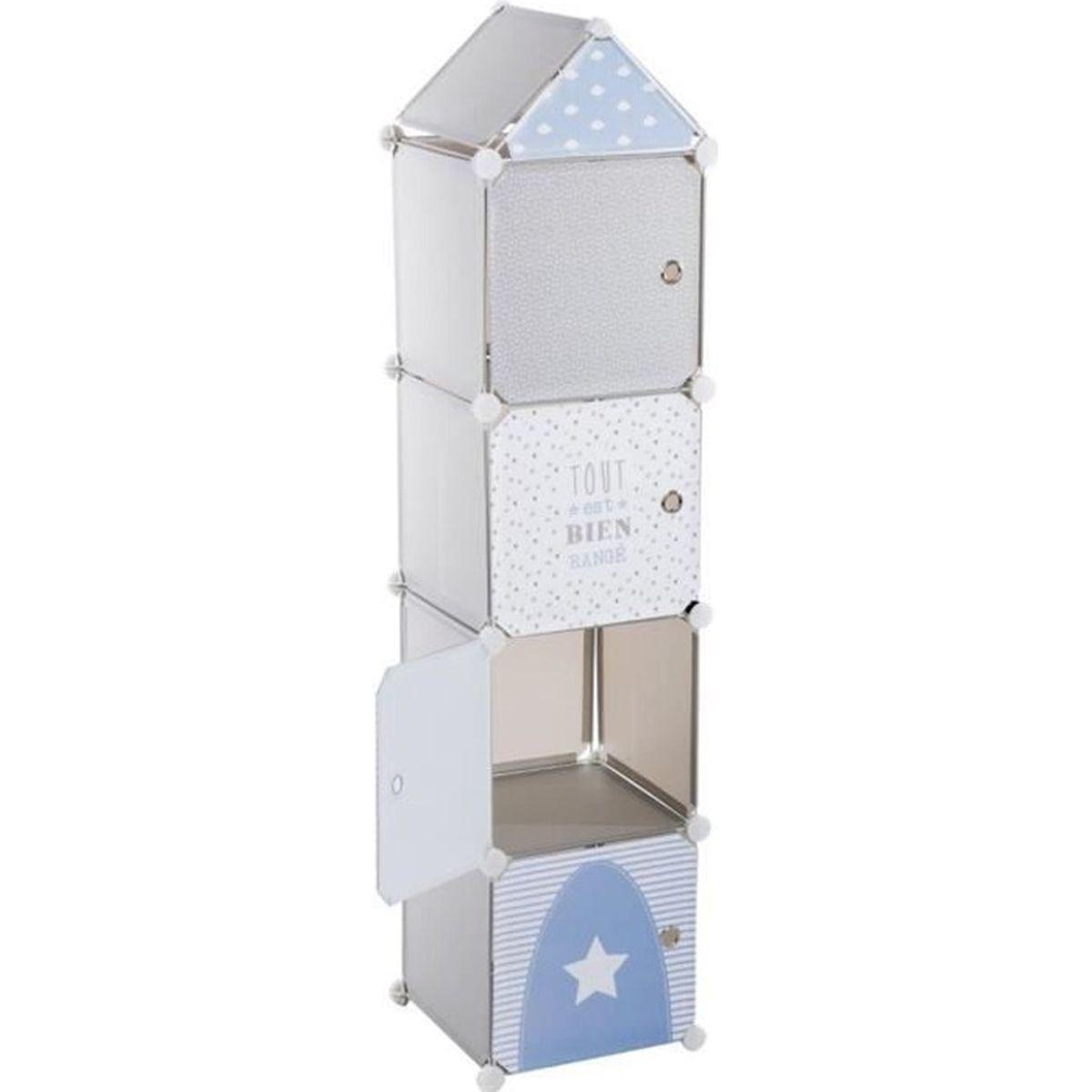 tour de rangement colonne gris achat vente petit rangement 3560238909843 cdiscount. Black Bedroom Furniture Sets. Home Design Ideas