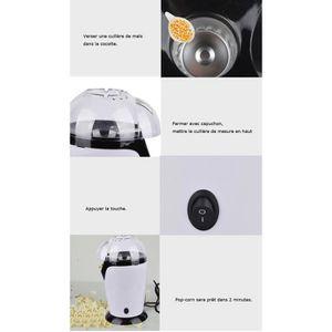CUISEUR À POP CORN Blanc Appareil à popcorn 1200 W machine à Popcorn