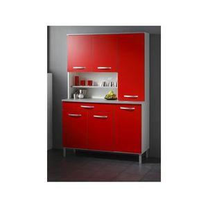 Buffet de cuisine rouge achat vente buffet de cuisine - Buffet cuisine rouge ...