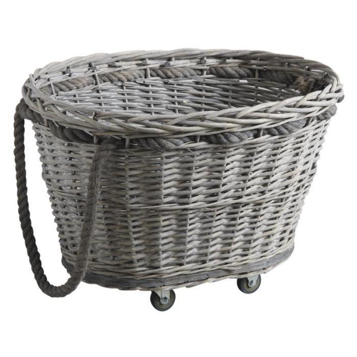 chariot b ches roulettes en clisse grise achat vente panier porte buches cdiscount. Black Bedroom Furniture Sets. Home Design Ideas