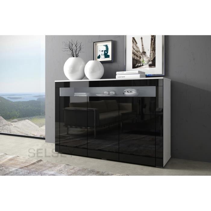 commode la bleue blanc mat noir brillant achat vente meuble tv commode la bleue blanc mat. Black Bedroom Furniture Sets. Home Design Ideas