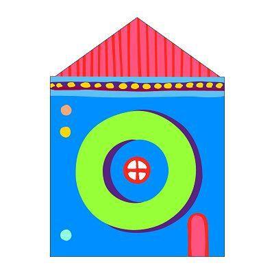 PLAQUE DE PORTE Lettre petite maison en bois : O