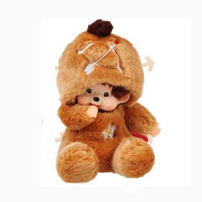 elenxs poup e peluche mignon jouet d enfant monchichi meilleur cadeau de no l 20cm le. Black Bedroom Furniture Sets. Home Design Ideas