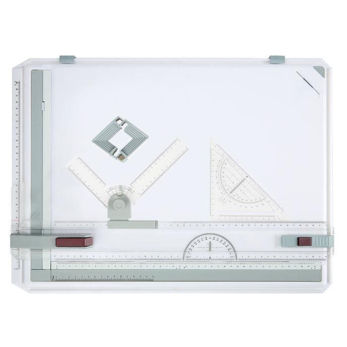 a3 planche dessin mouvement parall le multifonction plastique avec querre graphisme art achat. Black Bedroom Furniture Sets. Home Design Ideas
