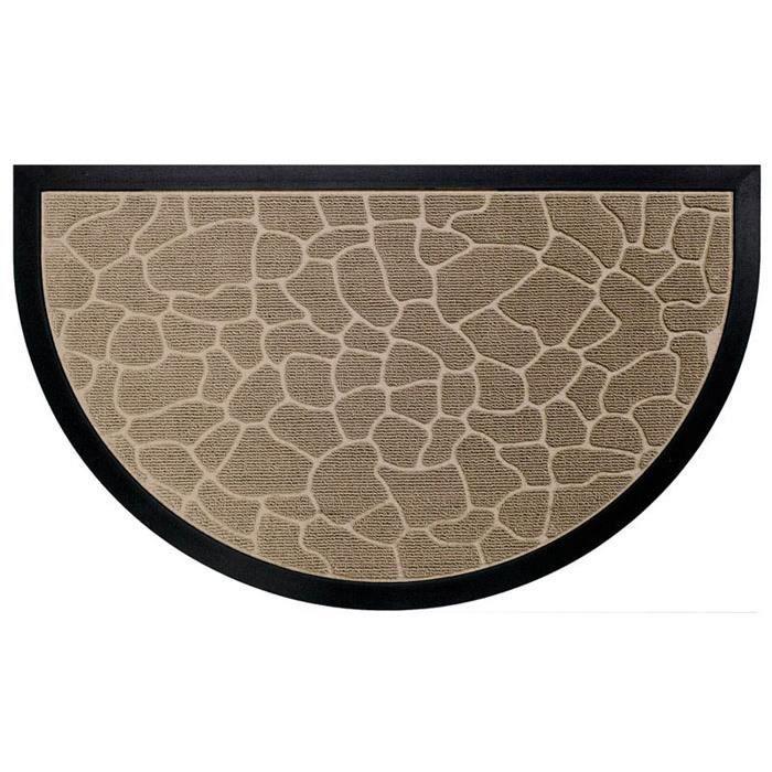 tapis d 39 entr e 45x75 demi lune cailloux naturel achat. Black Bedroom Furniture Sets. Home Design Ideas