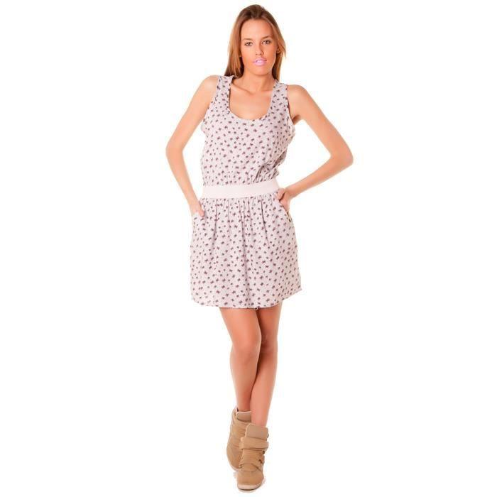 robe d 39 t femme rose et grise e rose achat vente robe cadeaux de no l cdiscount. Black Bedroom Furniture Sets. Home Design Ideas