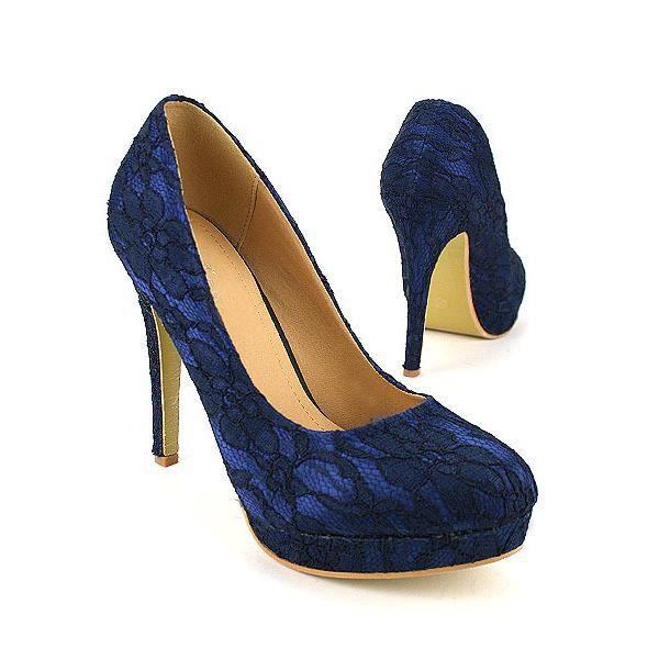 escarpins bleu chaussures femme achat vente escarpins bleu chaussures f pas cher. Black Bedroom Furniture Sets. Home Design Ideas
