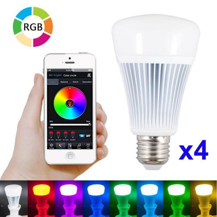 4pcs 8w e27 led ampoule bluetooth 4 0 ampoule. Black Bedroom Furniture Sets. Home Design Ideas