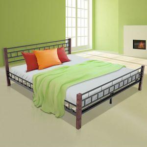 cadre de lit 180x200 achat vente cadre de lit 180x200 pas cher cdiscount. Black Bedroom Furniture Sets. Home Design Ideas