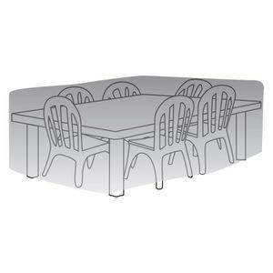 housse table rectangle + chaises titanium